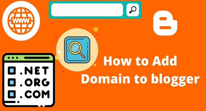 How to add domain to blogger